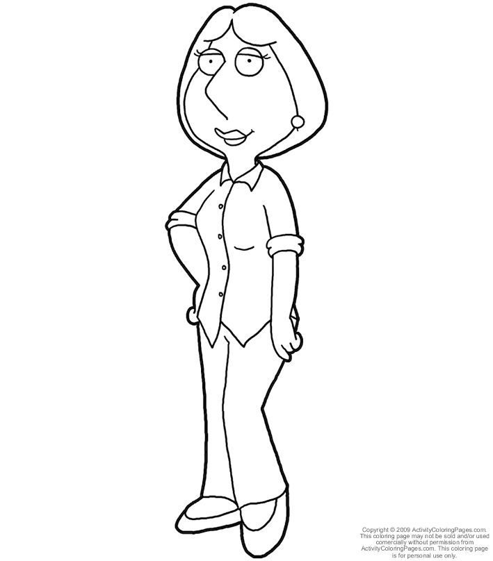 chris from family guy colouring pages