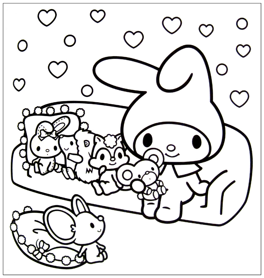 Free Coloring Pages Of Kawaii