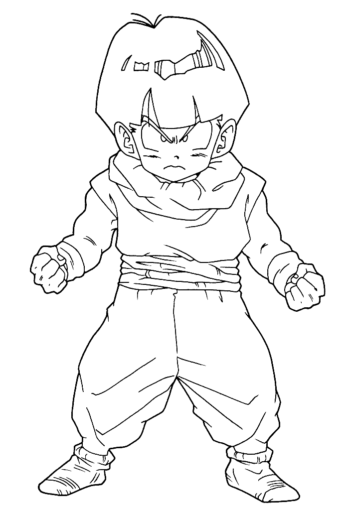 Dragon Ball Gohan Is Ready Anything Coloring Pages - Dragon Ball