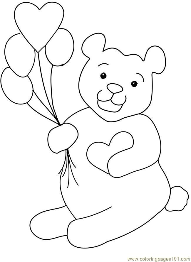 Balloon Coloring Pages AZ Coloring