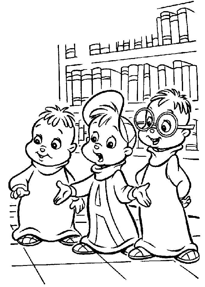 Alvin and the chipmunks printable coloring pages az for Chipmunk coloring pages printable