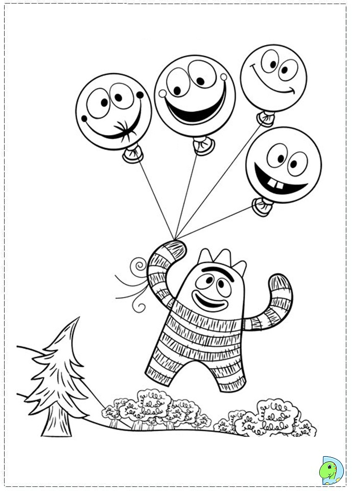 yogaba Colouring Pages (page 3)
