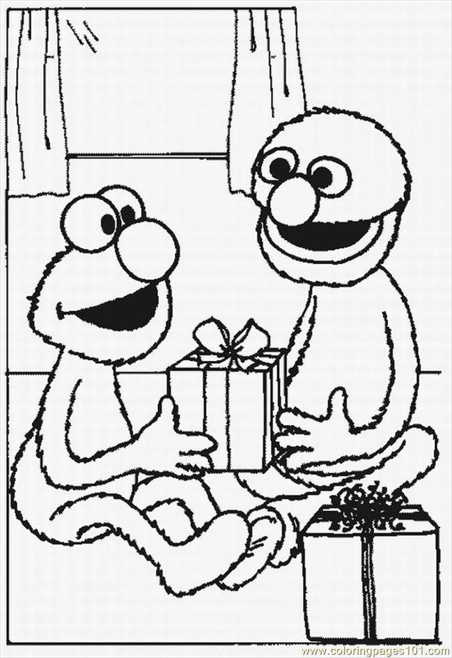 Pin Elmo Coloring Pages To Print Cake