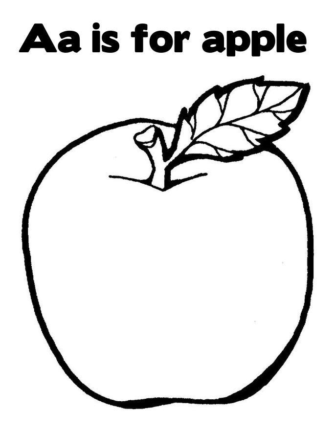 Teacher Apple Coloring Pages : Apples for the teacher coloring pages az