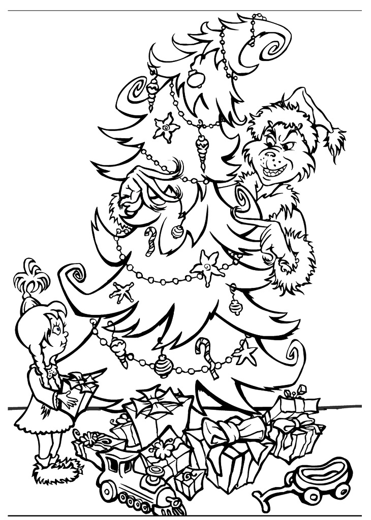Grinch Stole Christmas Coloring Pages AZ Coloring Pages