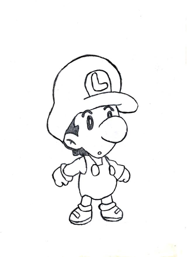 Baby Mario And Baby Luigi Coloring Pages