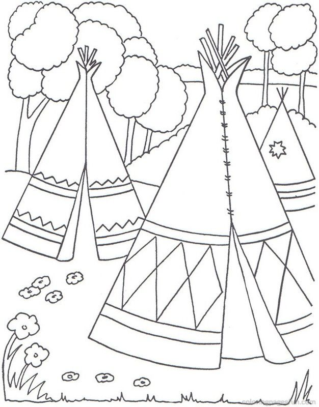 Native American Coloring Pages Free Coloring Home