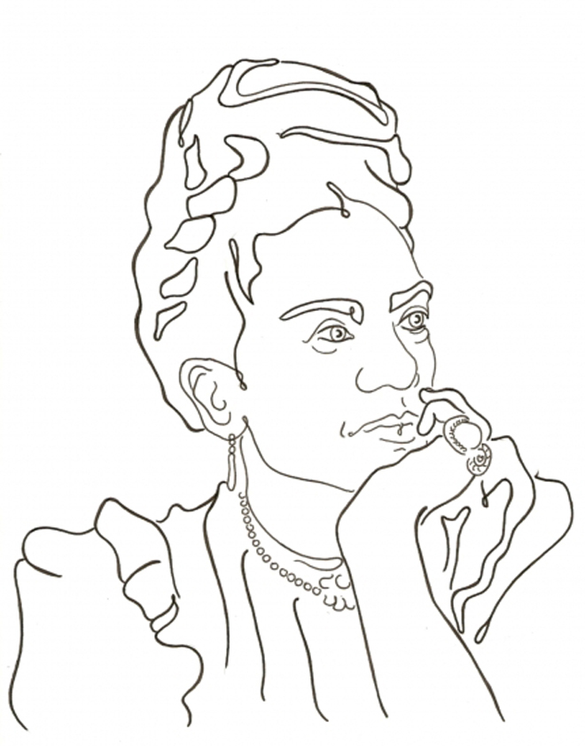 Frida Kahlo Coloring Pages Az Coloring Pages Frida Kahlo Coloring Pages