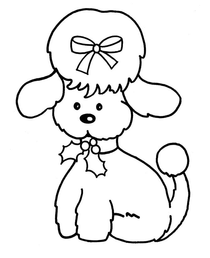 coloring pages of poodle dogs - photo#24