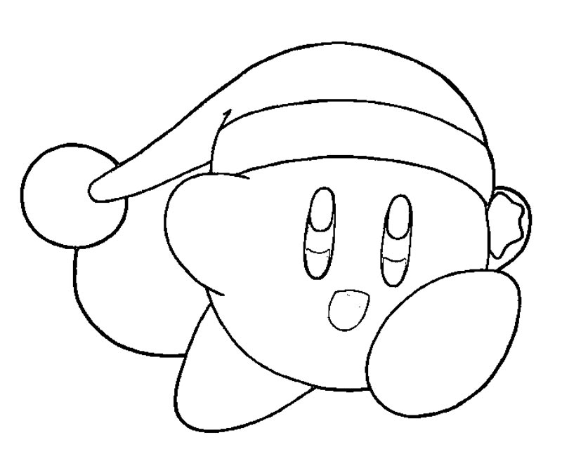 Coloring Pages Kirby Christmas