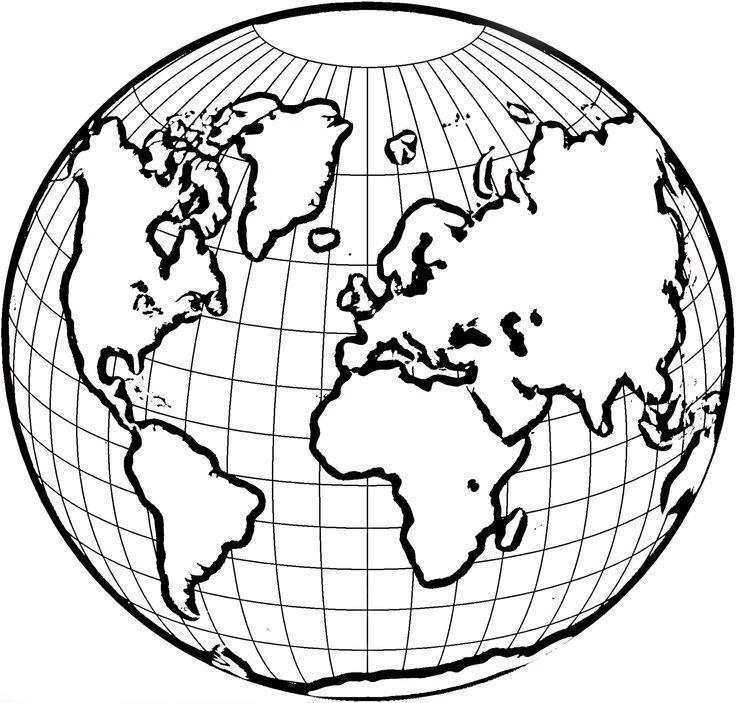 Coloring Page Globe  Coloring Home