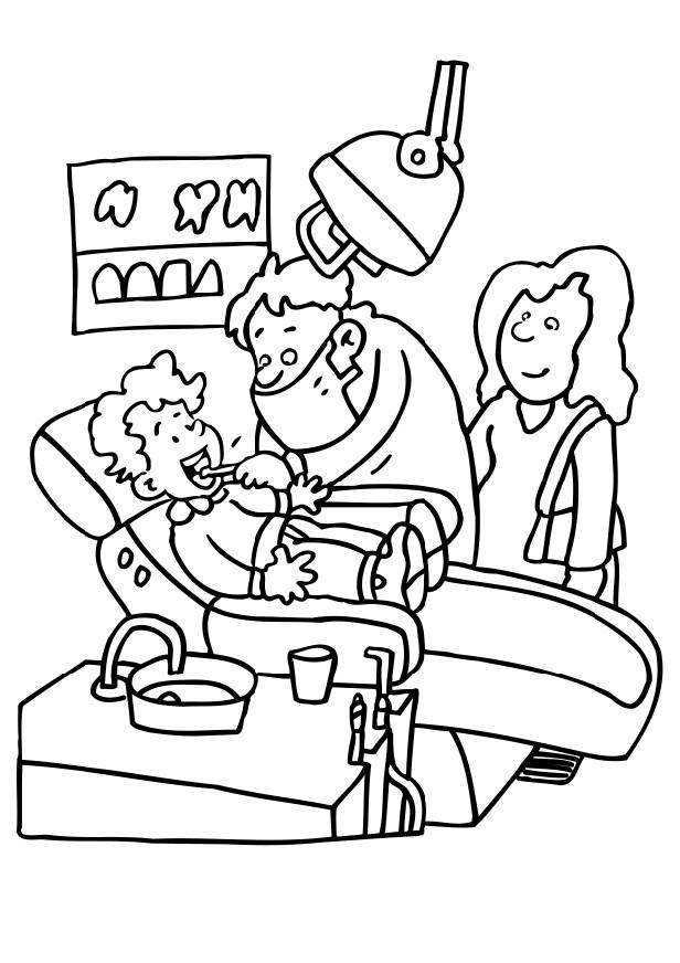 coloring pages of dental hygienists - photo#4