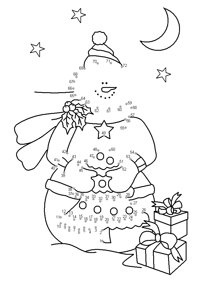 Christmas Connect The Dots Printables Coloring Home