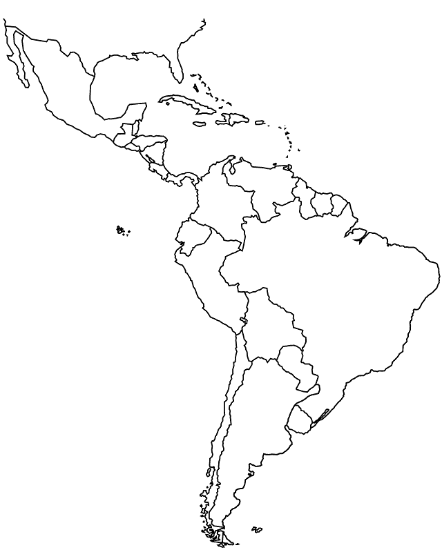 Outline Of Mexico - Coloring Home