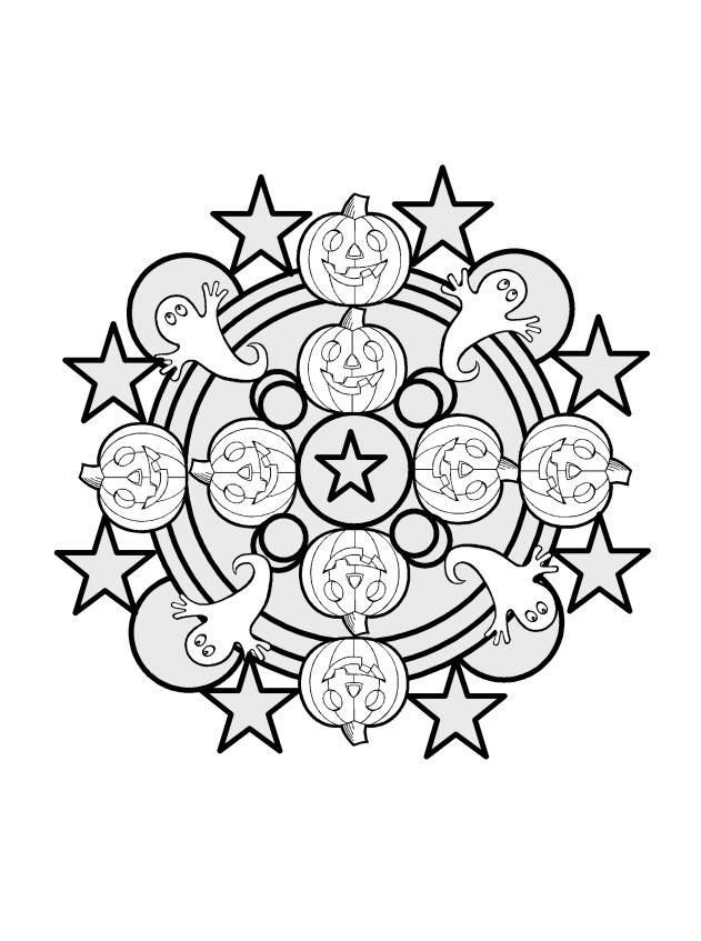 Image result for mandala halloween coloring pages