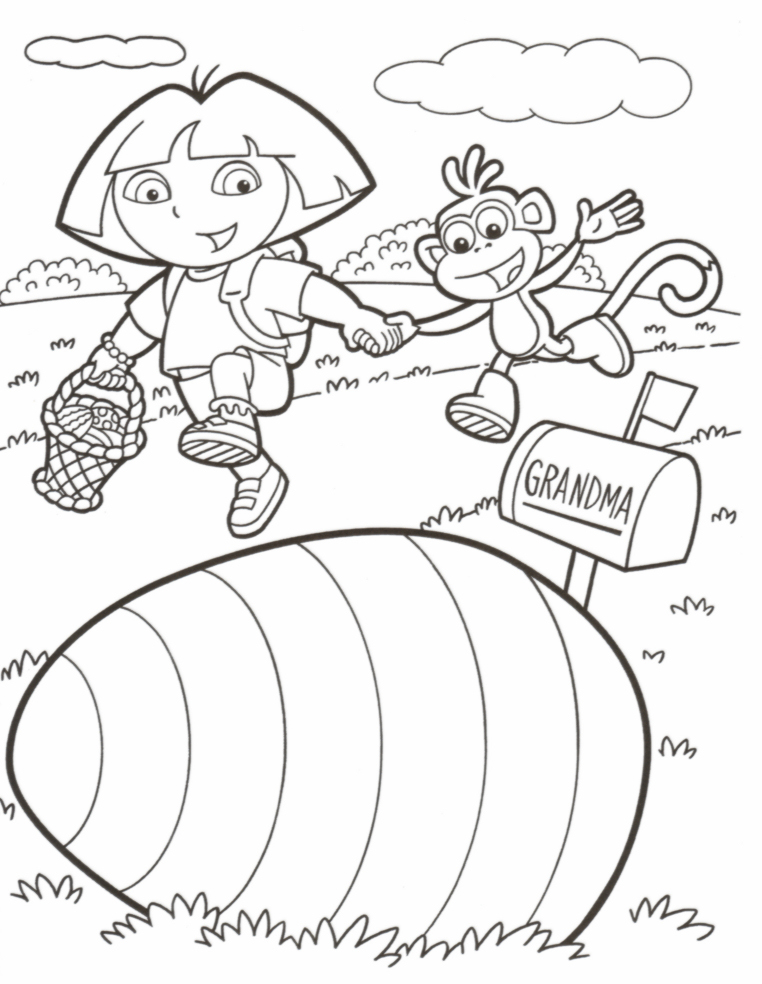 isimez coloring pages for easter basket
