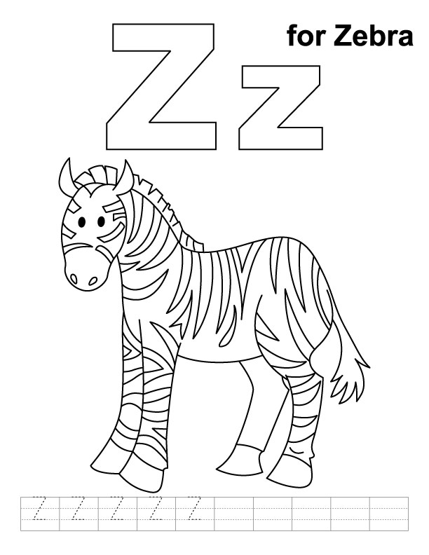 free zebra coloring pages to print - free zebra coloring pages az coloring pages