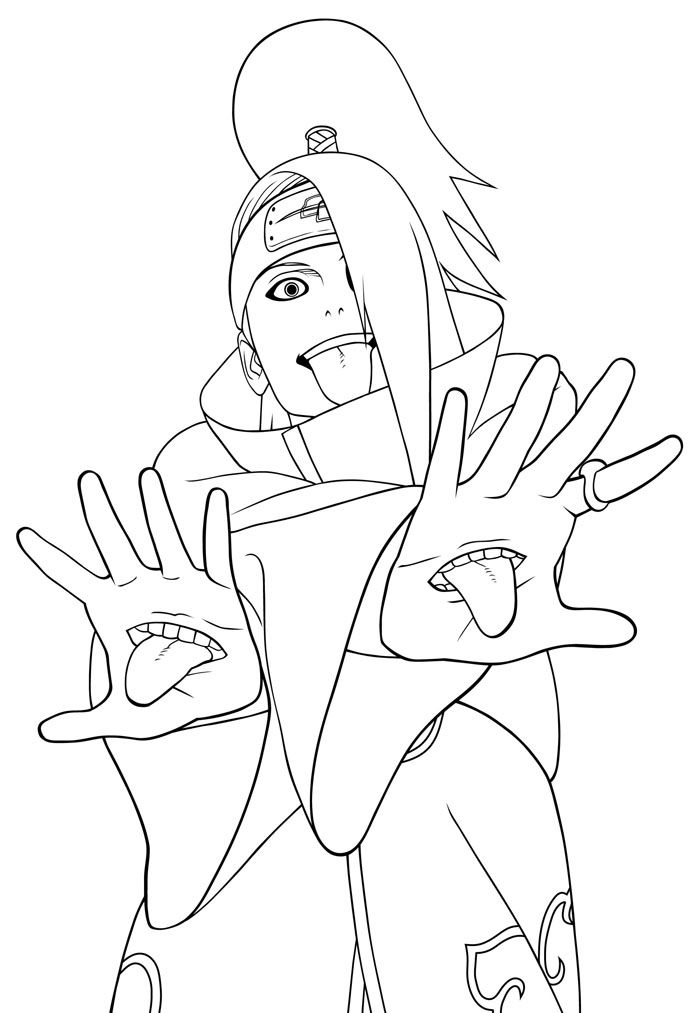 Naruto Printable Coloring Pages - Coloring Home