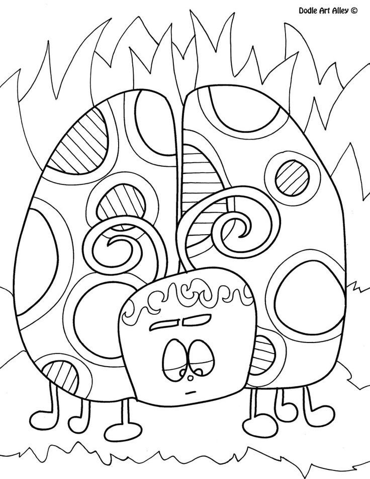 Doodle art coloring pages coloring home for Free doodle art coloring pages