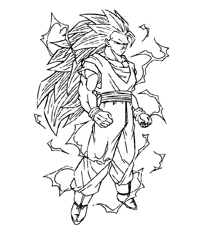 Bare tree coloring page az coloring pages - Dragon Ball Z Pictures To Color Az Coloring Pages
