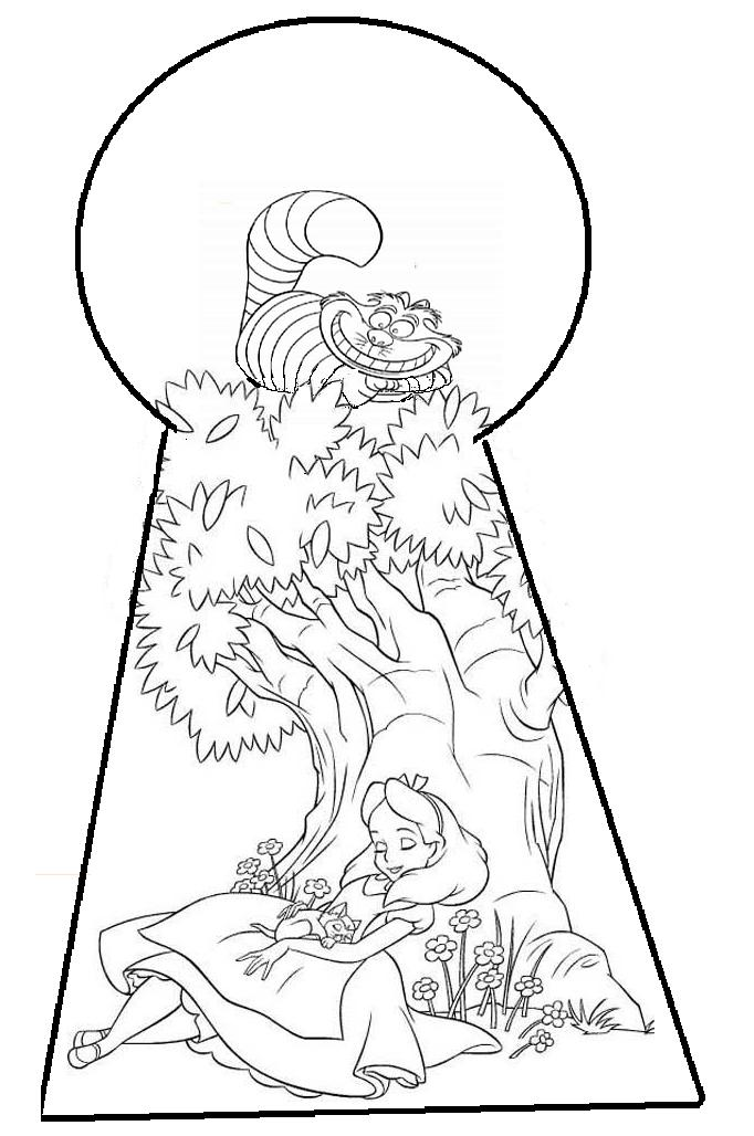 alice wonderland coloring pages - alice in wonderland pic coloring home