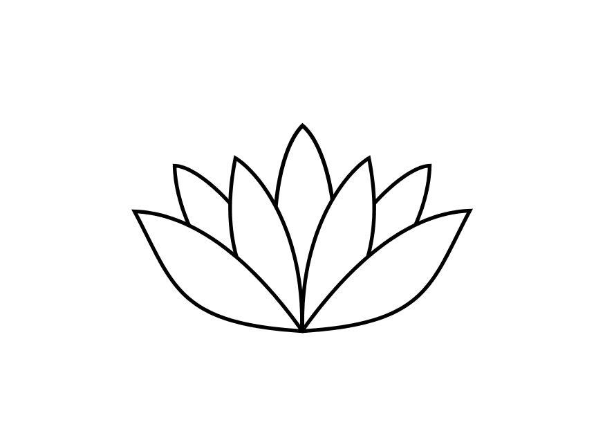 Coloring page lotus flower - img 10467.