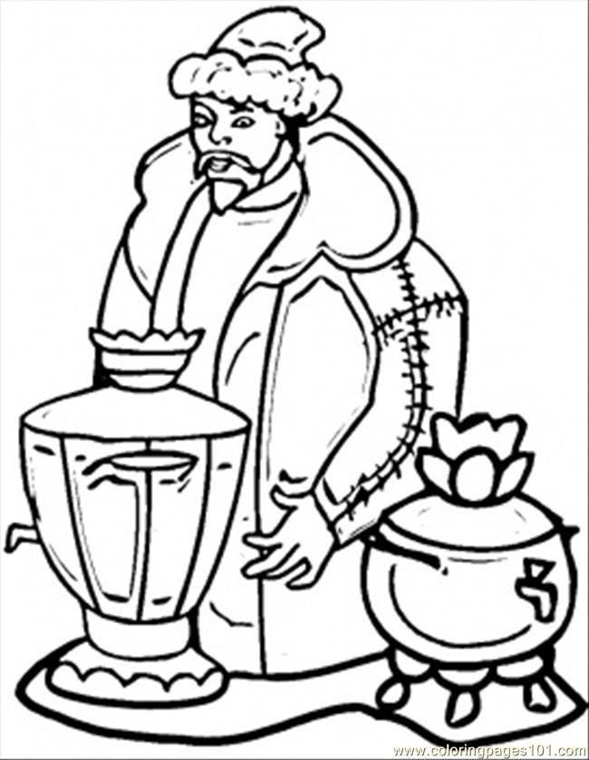 Coloring Pages Russian House (Countries > Russia) - free printable