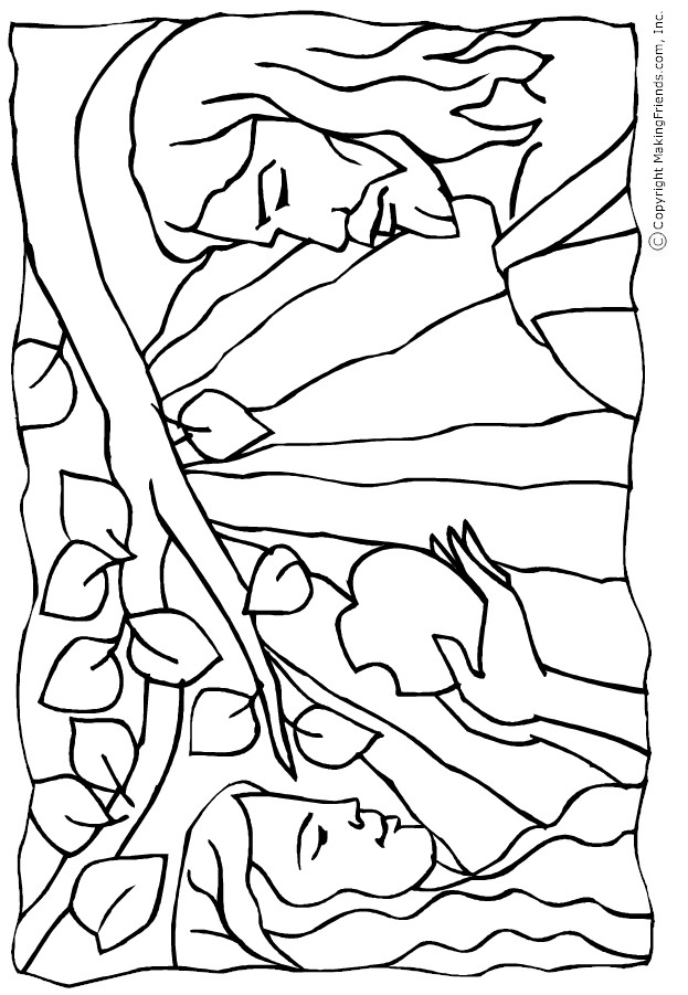 coloring pages adam and eve - photo#14