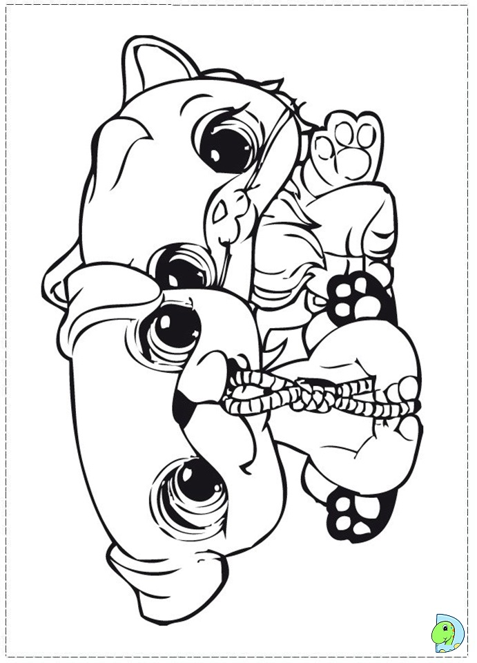Littlest pet shop color pages az coloring pages for Littlest pet shop coloring pages panda
