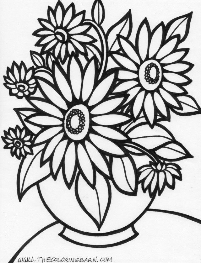 A Cartoon Flower Coloring Home