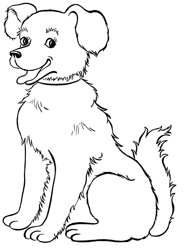 childrens coloring pages with puppies - photo#29