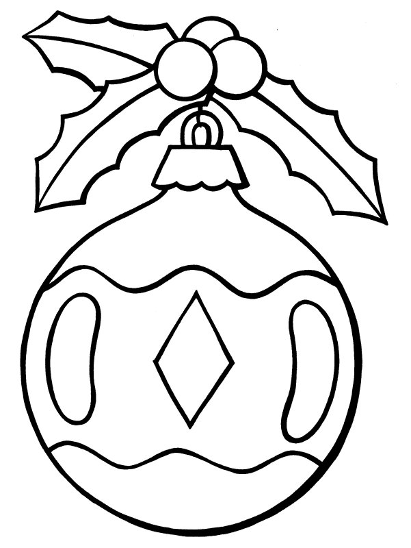 Christmas Ornament Coloring Sheet Pages