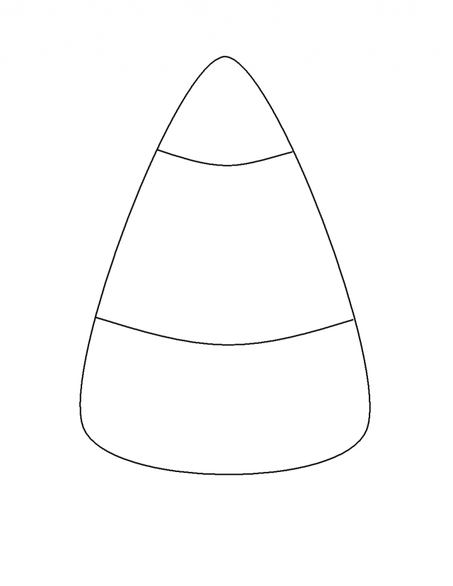 Candy Corn Coloring Page - Coloring Home