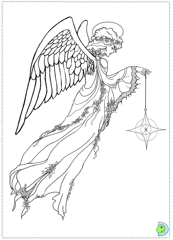 printable detailed angel coloring pages - photo#11
