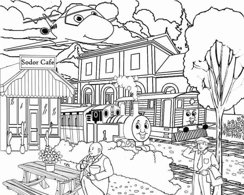 Thomas And Friends Sodor Gold Coloring For Kids |Thomas & Friends