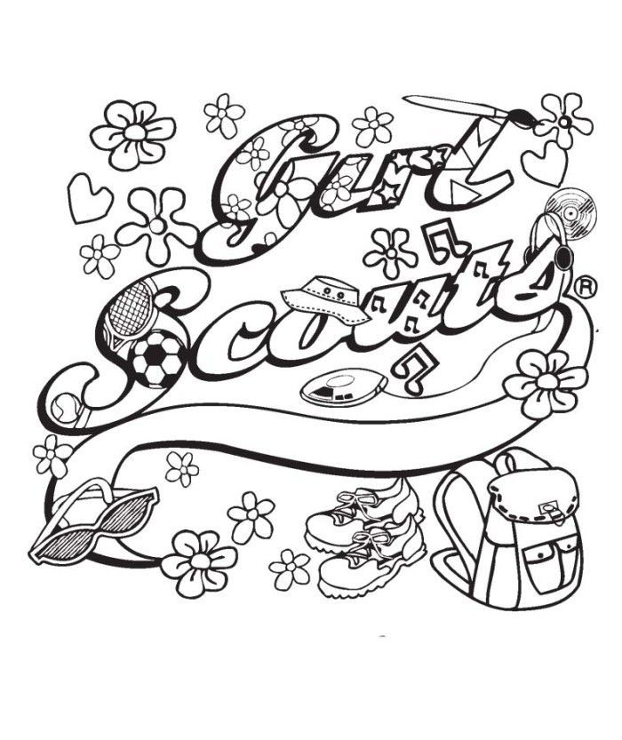 girl scout ribbon coloring pages kids coloring pages