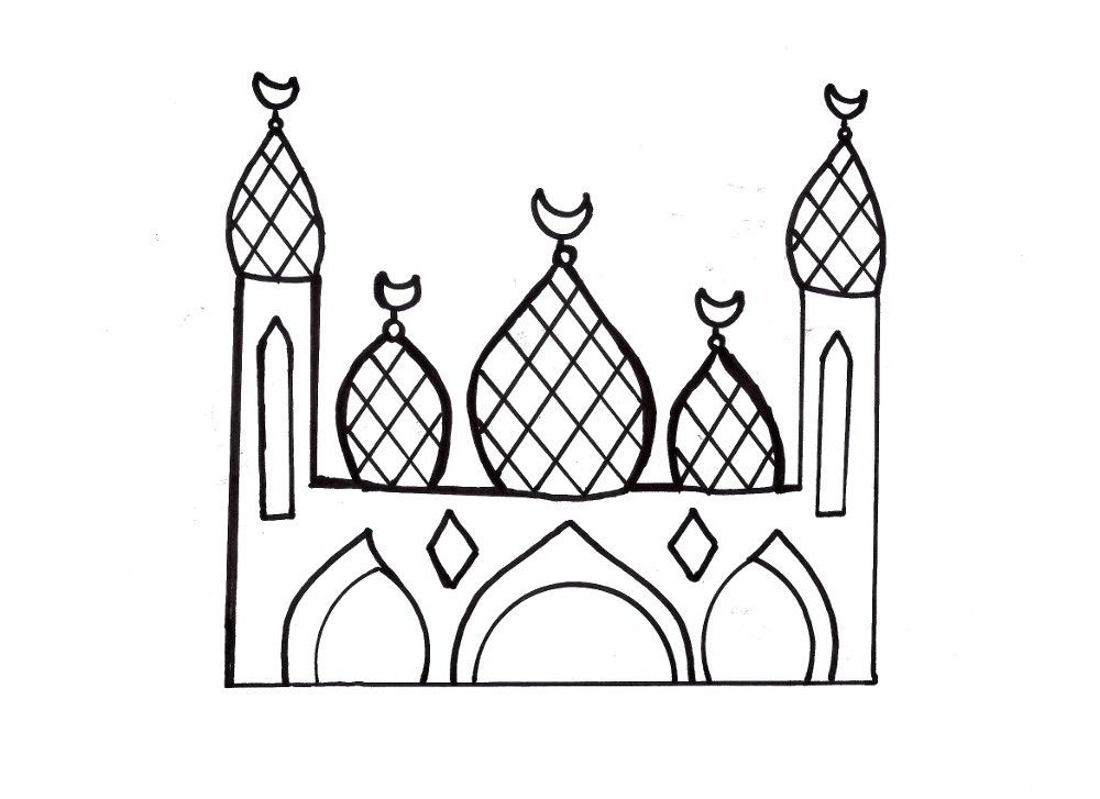 Islamic Coloring Pages 3 Coloring Kids Coloring Home