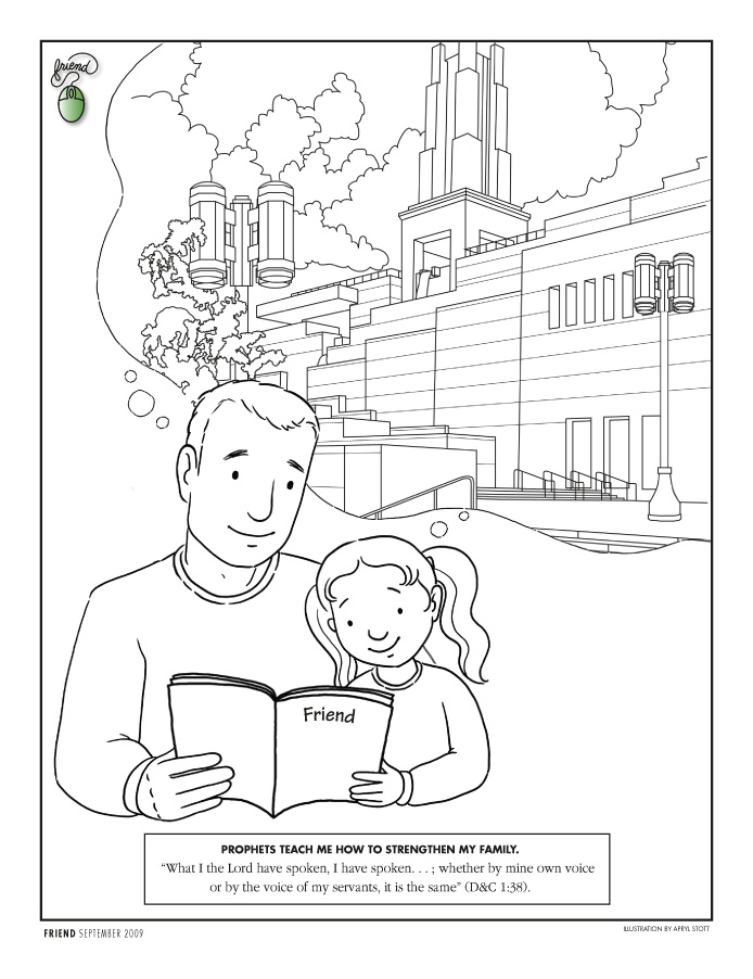 Coloring Page - Liahona Sept. 2009 - liahona