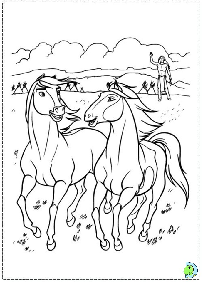 spirit stallion free coloring pages - photo#6