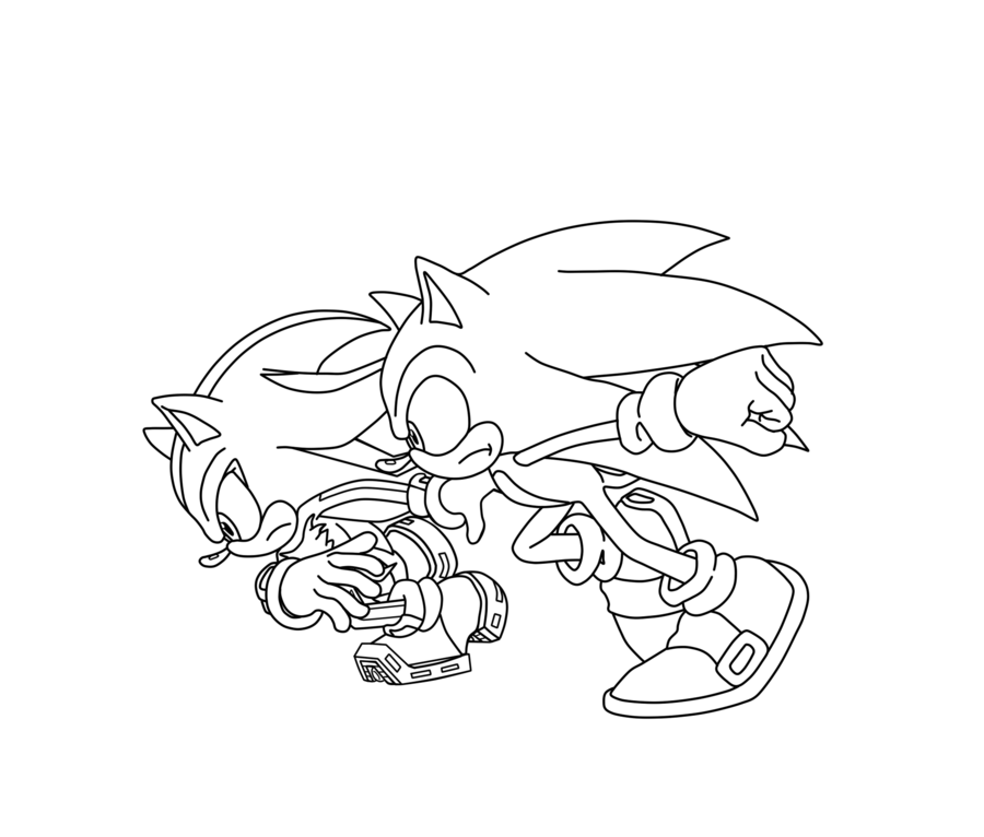 sonic coloring pages shadow - photo#14
