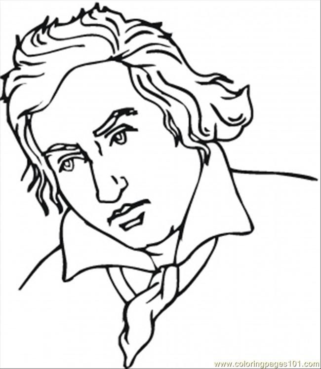 Coloring Pages Ludwig Van Beethoven Countries Germany