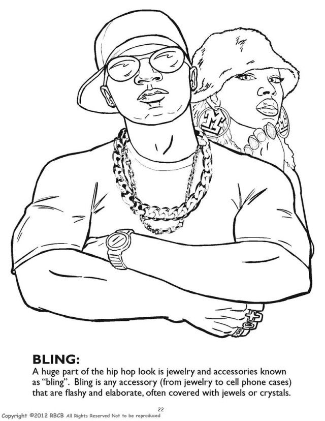 Gangsta rap coloring book pages az coloring pages for Rapper coloring pages