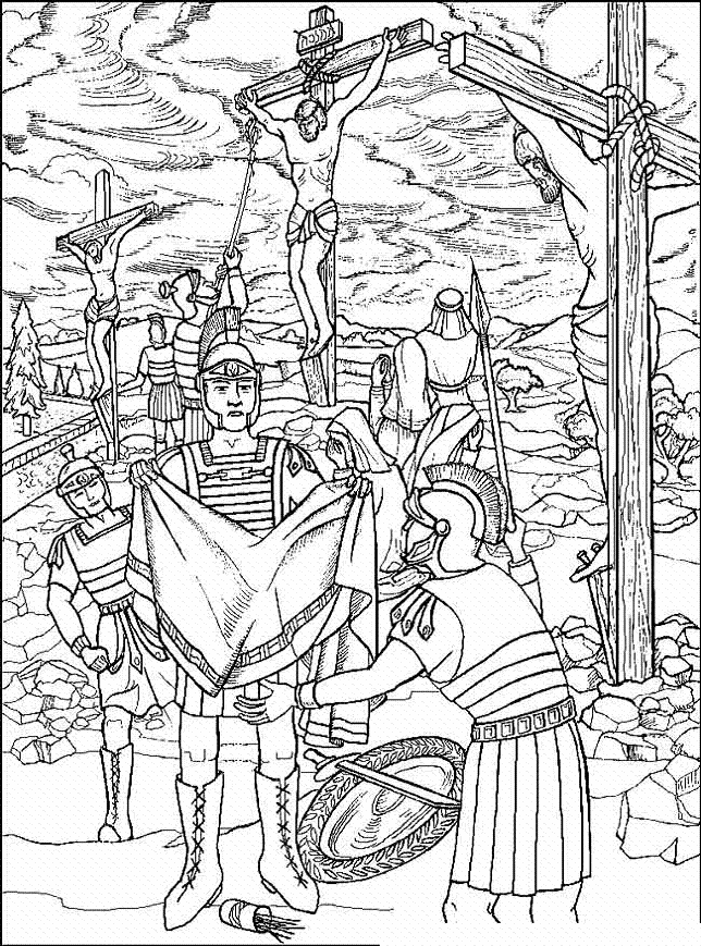 Jesus On The Cross Coloring Pages  Good Friday Coloring Pages