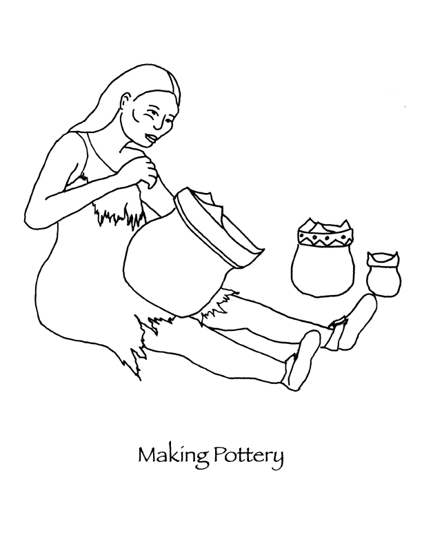 coloring pages native american pottery - photo #23
