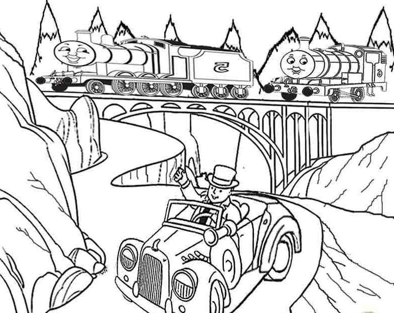 Thomas And Friends James and Percy Coloring For Kids |Thomas