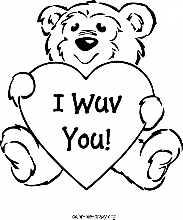 teddy bear with heart coloring pages - free teddy bear coloring pages az coloring pages