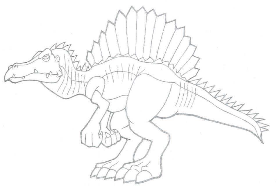 Land before time pictures coloring home for Dinosaur coloring pages spinosaurus