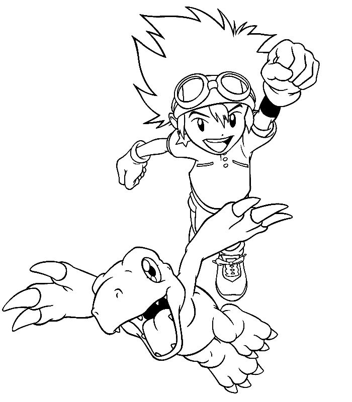 2014 Digimon coloring pages