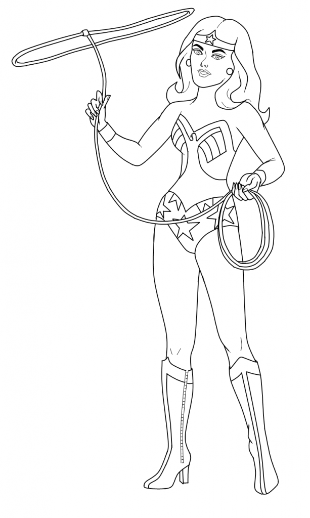 wonder woman coloring pages-#25