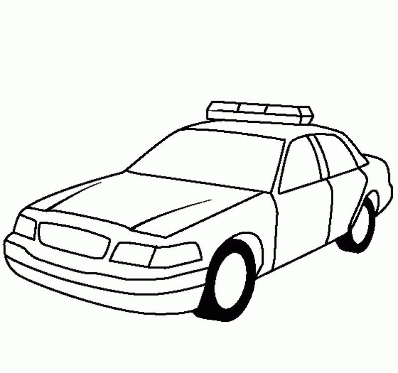 Police Car Coloring Pages For Kids - AZ Coloring Pages